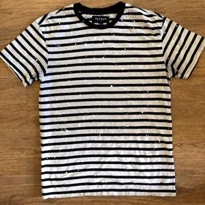 Striped Paint Drip Tee